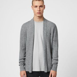 All Saints Mode Merino Wool Cardigan Sweater